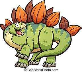 stegosaurus, caricatura