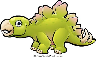 Stegosaurus Dinosaur Cartoon Character