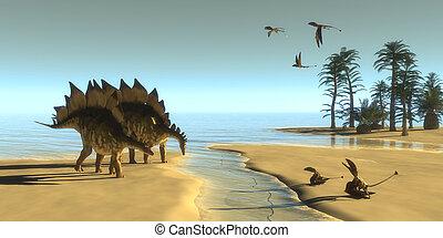Stegosaurus Dinosaur Morning