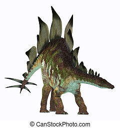 Stegosaurus Dinosaur on White