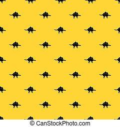 Stegosaurus dinosaur pattern vector