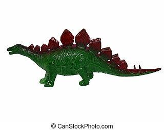 stegosaurus dinosaur toy on white