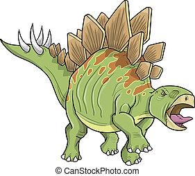 Stegosaurus Dinosaur Vector art - Stegosaurus Dinosaur...