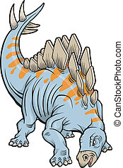 Stegosaurus Dinosaur Vector Illustration art