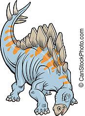 Stegosaurus Dinosaur Vector Illustration art