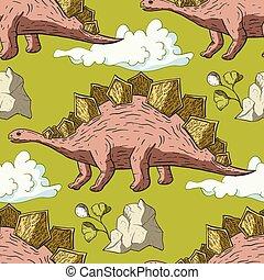 Stegosaurus Dinosaur vector.