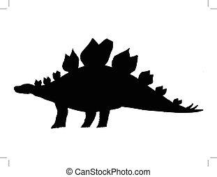 stegosaurus - black silhouette of stegosaurus
