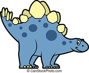 Stegosaurus - This is a vector illustration of a cute and...