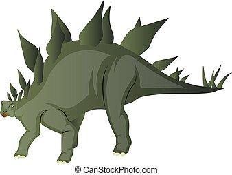 stegosaurus, grafické pozadí., neposkvrněný, vektor, ilustrace