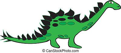 Stegosaurus - Vector illustration of a Stegosaurus dinosaur...