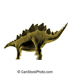 Stegosaurus isolated on white background