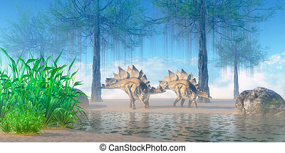 Stegosaurus Morning