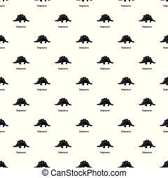 Stegosaurus pattern seamless vector repeat geometric for any...