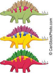 stegosaurus, spotprent