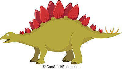 Stegosaurus vector illustration in cartoon style for kids. Dinosaurs Collection.