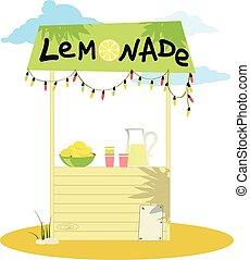 stehen, limonade