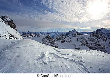 stehende , alps, schweizerisch, titlis