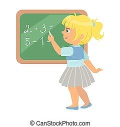 Tafel schreiben clipart  Vektor Clipart von tafel, kind, schreibende - schule, boring ...