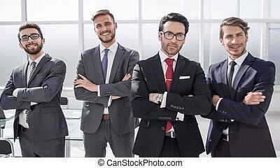stehende , gruppe, geschäftsbüro, leute