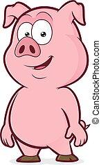 stehende , lächeln, schwein