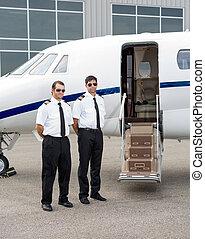 stehende , piloten, private düse