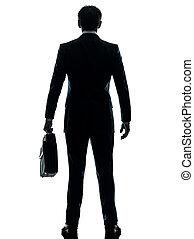 stehende , silhouette, kaufleuten zürich, hintere ansicht