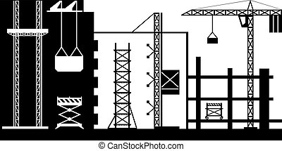 steiger, voor, bouwsector