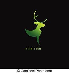 Logo goldener hirsch gruner hintergrund