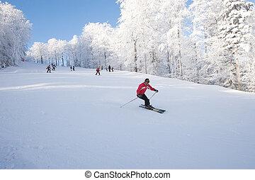 steigung, ski