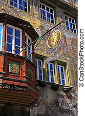 medieval building in Stein am Rhein, Switzerland