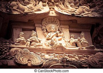 stein, bas, hindu, pantheon, erstaunlich, erleichterung,...