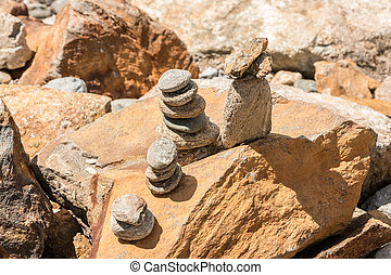 stein, gemacht, gebaut, türme, kleiner fels