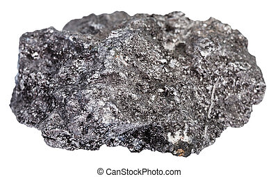 stein, graphit, mineral, kiesel, freigestellt
