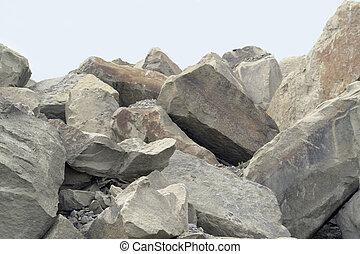 stein, haufen