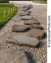 stein, japanisches , weg