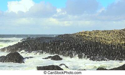 stein, Reise,  giant's, damm, wasserlandschaft, irland, irisch, landschaftsbild, Besichtigung