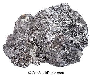 stein, stück, graphit, mineral, freigestellt