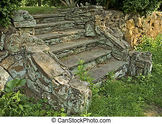 stein, treppe