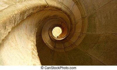 stein, verschwinden, treppenaufgang, punkt