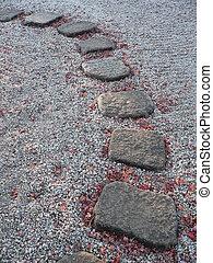 stein, weg