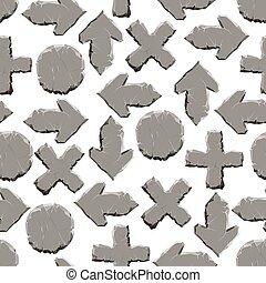stein, zeichen & schilder, seamless, muster
