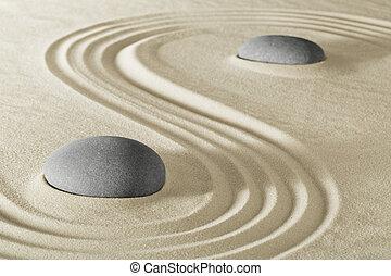 stein, zen garten