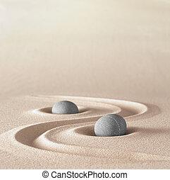 stein, zen, meditation, kleingarten