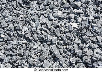 stein, zerquetscht