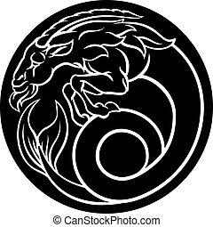 steinbock, tierkreis, zeichen, horoskop, astrologie