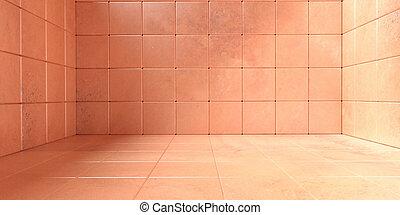 steinboden, farbe, zimmer, muster, wände, abbildung, hintergrund, orange, 3d, texture., leerer , gekachelt