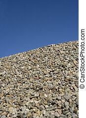steine, blaues, gegen, himmelsgewölbe