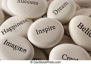 steine, -, eingeben, inspirational