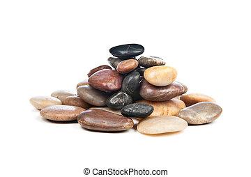 steine, glatt, haufen