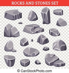 steine, graue , klein, steinen, groß